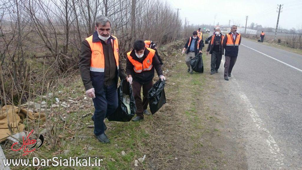 جمع آوری زباله راهداری سیاهکل (۵)