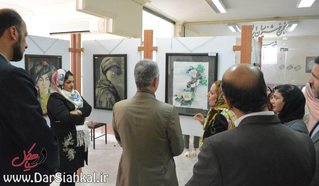 نمایشگاه نقاشی طرحی نو سیاهکل (۲)